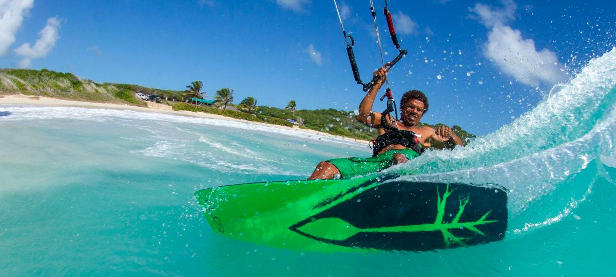 Andre Phillip is a professional kiteboarder from Antigua